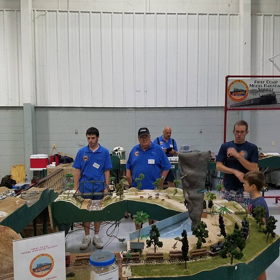 Club members operating our ON30 modular layout.